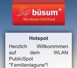 Die Familienlagune bietet gratis WLAN am Büsumer Strand.